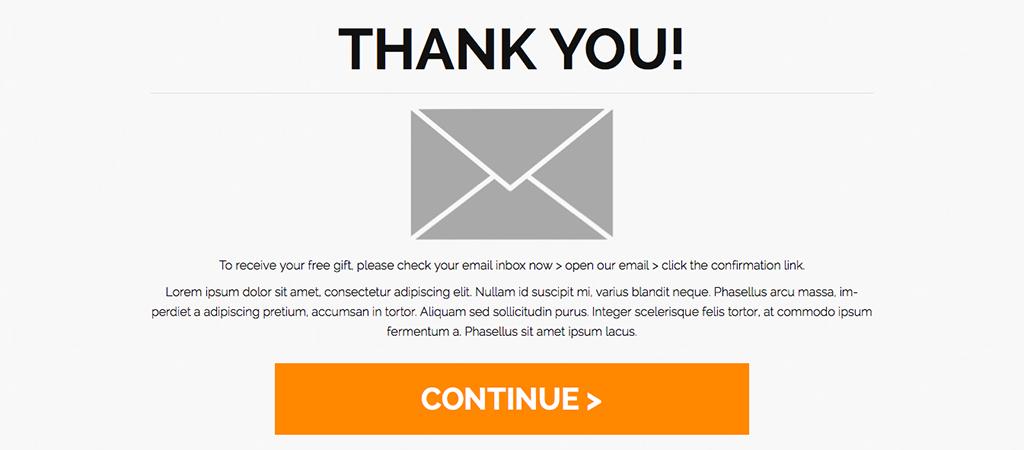 Thank you page. Как оформить страницу после подписки